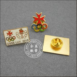 Soft Enamel Lapel Pin with Words Custom Badge (GZHY-SE-017) pictures & photos