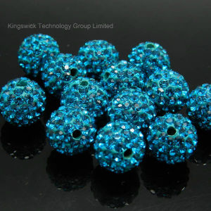 10mm Multi-Color Pave Crystal Disco Ball Beads pictures & photos