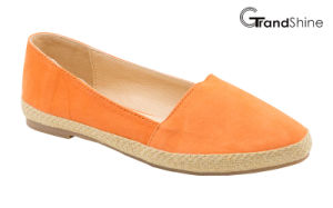 Women′s Espadrille Pointed Toe Comfortable Flat Ballet Shoes pictures & photos