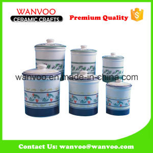 Ceramic Coffee Candy Tea Canister for Kitchen Decoration pictures & photos