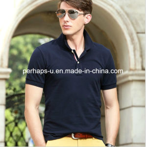 High Qulaity Men′s Fashion Casual Polo T-Shirt pictures & photos