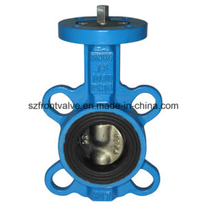Cast Iron PTFE Lined Wafer Butterfly Valve pictures & photos