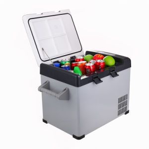 Novel Mini Car DC Compressor Refrigerator 32liter DC12/24V with AC Adaptor (100-240V) for Outdoor Activity pictures & photos