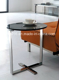 Modern Simple Glass Coffee Table / Stainless Steel Tea Table pictures & photos