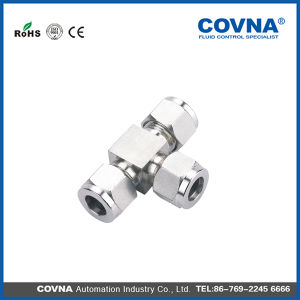 Yz2-5 Stainless Steel Double Ferrule Tee Fittings pictures & photos