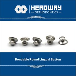 Orthodontic Accessory, Round Curved Lingual Button with Ce pictures & photos