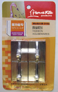 Plastic Adhesvie Hook (HK014C) Chrome for Household Products