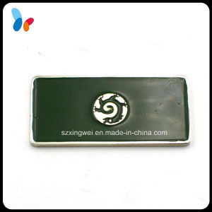 Custom Blackboard Shape Metal Rectangle Logo Badge pictures & photos