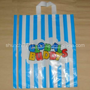 Printing PE Handle Shopping Bag with Loop (35*45cm*50um) pictures & photos