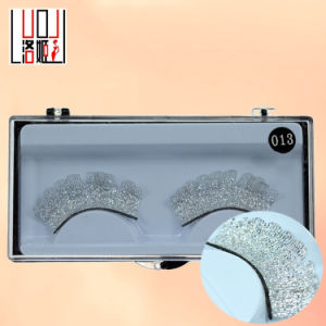 Creative Makeup Silver Lace Sequins False Eyelashes pictures & photos