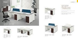 Simple Melamine Office Furniture 1.4m Staff Desk Staff Table Left Cabinet