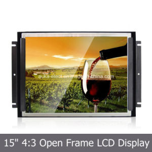 "15"" Open Frame Embedded Touchscreen Monitor with High Resolution 1024*768 pictures & photos"