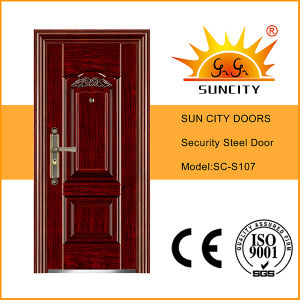 New Design and Competitive Price Steel Security Door (SC-S107) pictures & photos