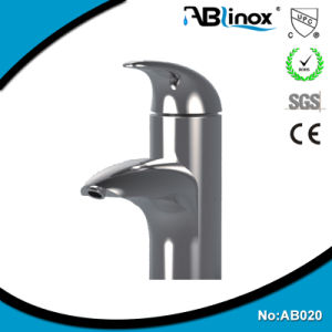 304 Stainless Steel Mirror Polished Basin Faucet pictures & photos