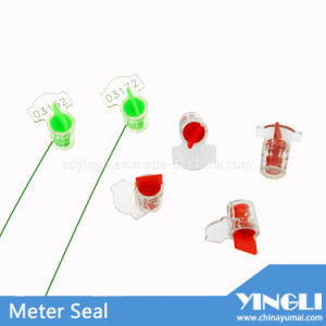 Anti-Reverse Clear Security Meter Seal with Laser Printed pictures & photos