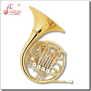 F/ Bb 4 Keys Gold Lacquered Double French Horn pictures & photos