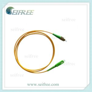 Sc-FC Single Mode Optical Fiber Patch Cable (CATV FTTH) pictures & photos