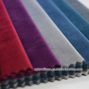 Brushed Polyester Italian Velour Fabric for Curtain/Sofa pictures & photos