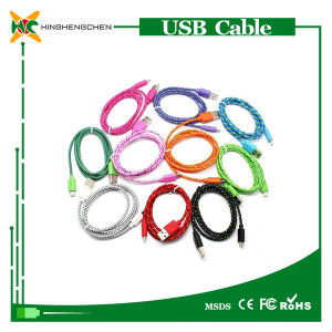 Wholesale Colorful Micro Nylon Braided USB Charger Cable for iPhone pictures & photos