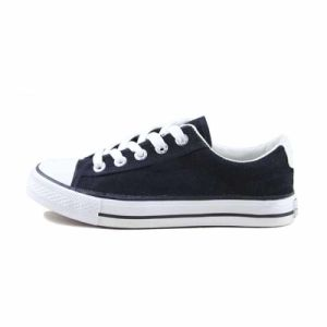 Hot Sales Classic Vulcanized Black Unisex Canvas Shoes Wholesale pictures & photos