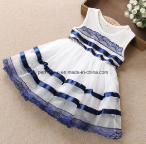 High Quality Little Girls Dress Lace Flower Dress Children Wear pictures & photos