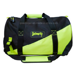 Durable Nylon Sport Bag with Contrast Neon Yellow Patch pictures & photos