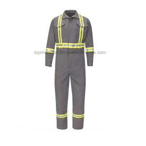 Flame Retardant Heat-Resistant Breathable High Visibility Reflective Safety Protective Work Clothes pictures & photos