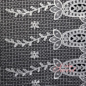 OEM Factory Fancy Luxury Water Soluble Lace Fabric pictures & photos