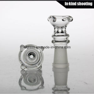 Smoking Bowl Screen with Female Glass on Glass Smoking Bowl 14.4mm 18.8mm Joint Size pictures & photos