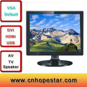 19 Inch TFT Display LCD TV Monitor with VGA Input pictures & photos