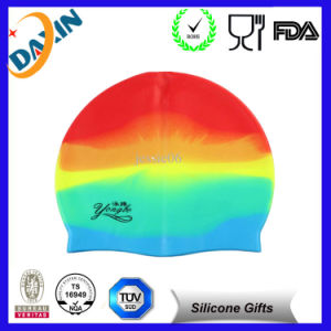 Flexible Waterproof Silicone Swim Caps, Silicone Swimming Cap pictures & photos
