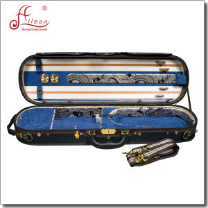 Professional Deluxe Wooden Oblong Oxford Violin Case pictures & photos