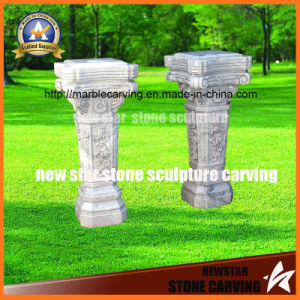 Small White Carrara Pillar for Flower Decoration pictures & photos