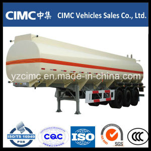Cimc 3 Axle 40m3 Oil Tanker / Fuel Tanker Semi Trailer pictures & photos