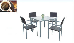 Grey Square Outdoor Rattan Furniture with 5 PCS pictures & photos