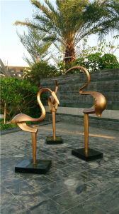 Abstract Outdoor Bird Glass and Steel Sculpture Decoration pictures & photos