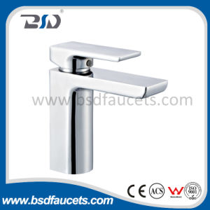 Watermark Wels Bathroom Sink Chrome Brass Square Basin Faucet Mixer pictures & photos