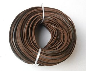 Cartoon Brown Leather Shoe Laces pictures & photos