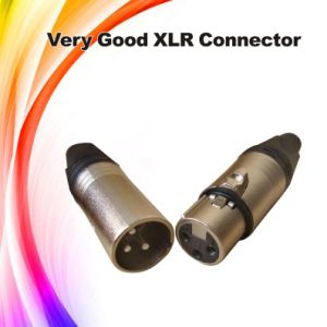 3 Pole XLR Male to RCA Female Audio Connector pictures & photos