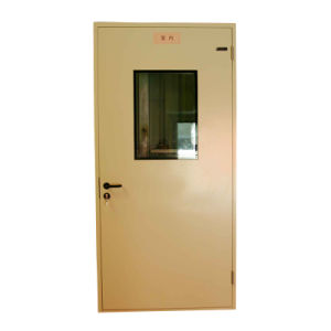Hospital Metal Door with Glass Viewport