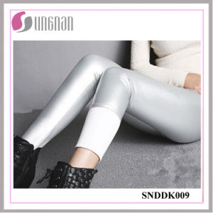 2015 Warm Multicolor PU Leather High Waist Thickening Fleece Leggings pictures & photos