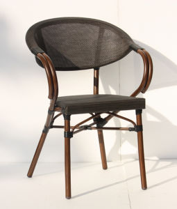 French Style Rattan Textilene Coffee Dining Chairs (TC-08011) pictures & photos