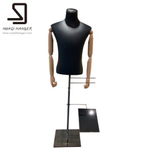 Black Half Body Mannequins with Wooden Arms, Male Torso pictures & photos