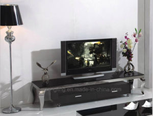 CT8017 Simple Designs High Quality Glass TV Stand pictures & photos