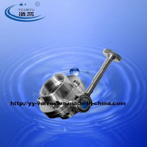 Sanitary Butterfly Valve with Female Connection pictures & photos
