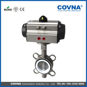 Wafer Type Stainless Steel Pneumatic Butterfly Valve with Actuator pictures & photos