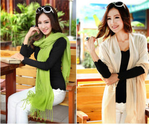 Hot Sale Cheap Ladies Vintage Cashmere Pashmina Shawl (MU6606-1) pictures & photos