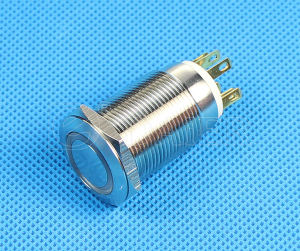 19mm 6pin LED Illuminated Push Button Switch (LAS1GQ-19F-11E) pictures & photos