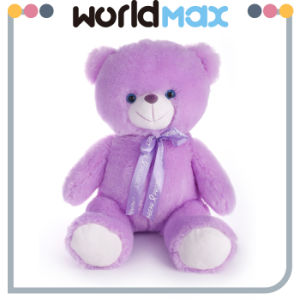Custom Plush Romantic Lavender Teddy Bear Toy Factory in China