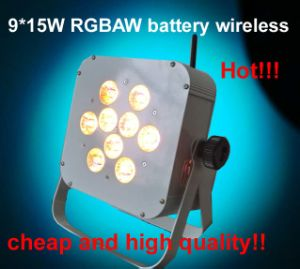 Cheap 9X15W Rgbaw Battery Wireless LED Color Light